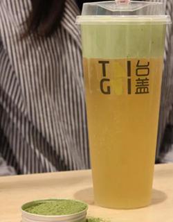 抹茶奶盖绿茶